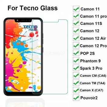 Перейти на Алиэкспресс и купить 3-1 шт. закаленное стекло для Tecno Camon 11S 11 12 Air Spark 3 Pro POP 2S Phantom 9 Pouvoir 2 X см Защитная пленка для экрана