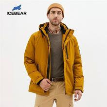 ICEbear-Chaqueta de algodón con capucha para hombre, abrigo masculino cálido, de moda, para otoño e invierno, MWD20853D, 2020