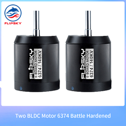 Two Motor 6374 140/190KV 3500W Combo Battle Hardened  Motor Brushless with Hall Sensor for DIY Electric Skateboard Longboard