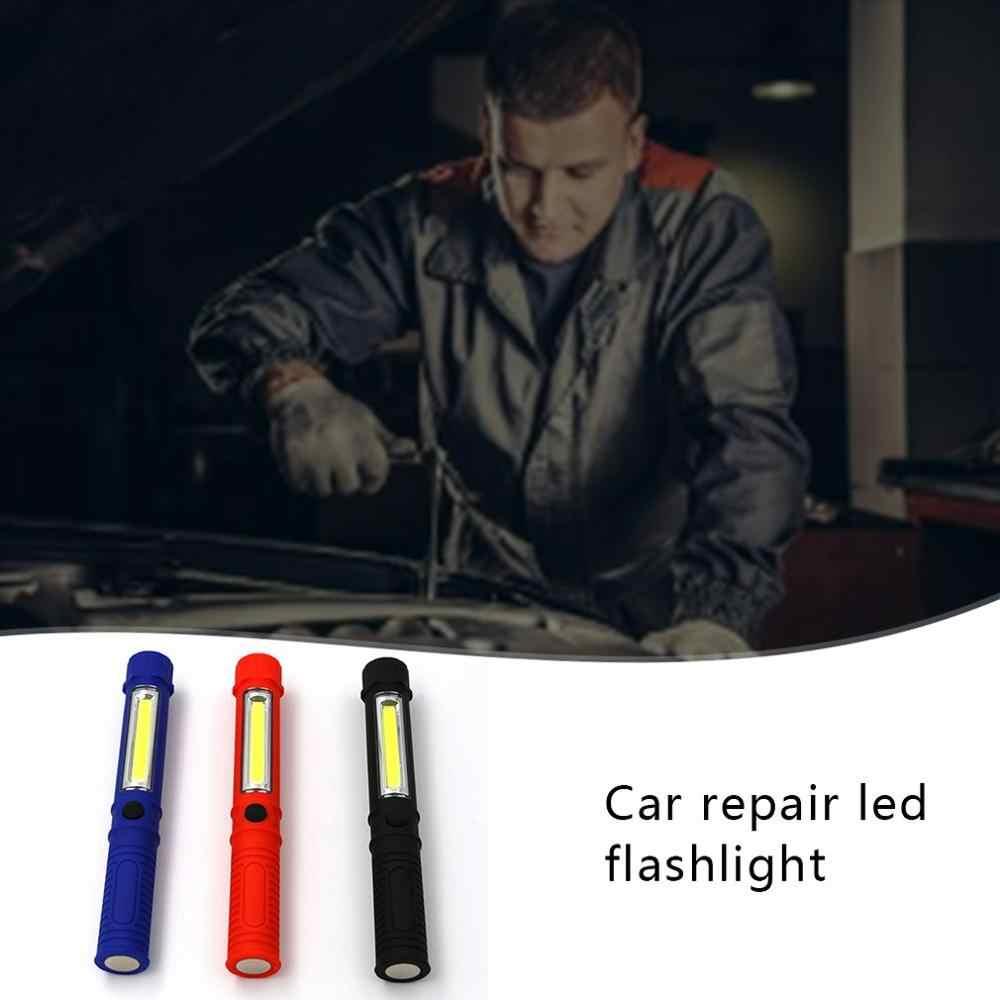 Multifungsi COB Perawatan Cahaya dengan Magnet Pen Lampu Kerja LED Lampu Senter Portable