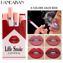 4PCS/Lot Hot Sales Waterproof Nude Matte Velvet Glossy Lip Gloss Lipstick