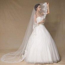 3 meters long lace veil