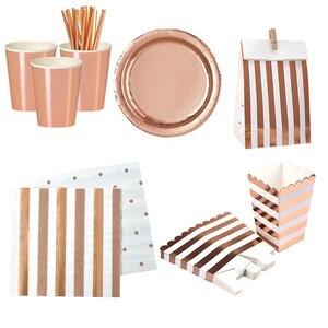 Image 5 - Chicinlife Globo de papel de aluminio rosa dorado, número de cumpleaños 30, caja de palomitas de paja para adulto, suministros para fiesta de cumpleaños y Aniversario