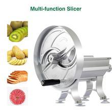 Бытовая ручная овощерезка для фруктов, коммерческая Регулируемая овощерезка для фруктов из алюминиевого сплава, нож-измельчитель, кухонный инструмент