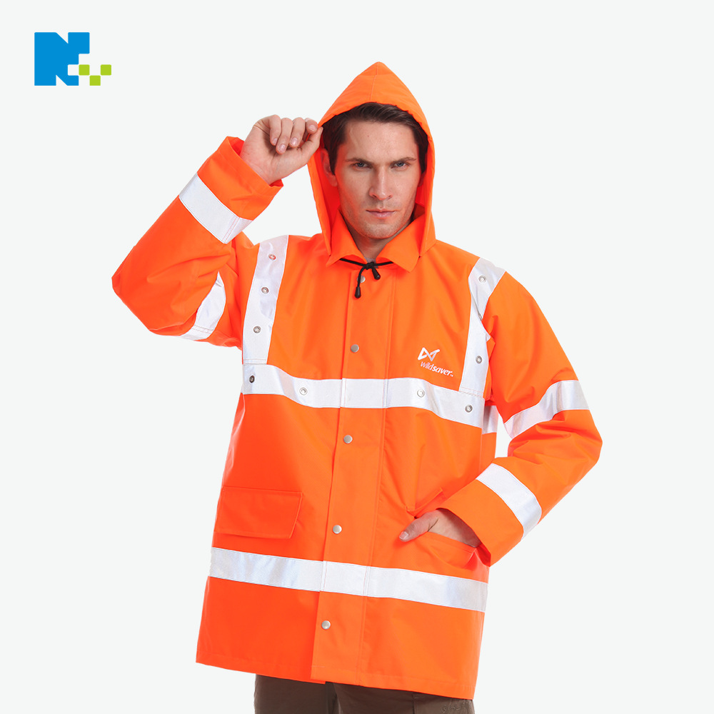 Profession Customizable LED Clothing High Quality Waterproof Windproof LED Warning Jacket Environmentally Friendly System Certif