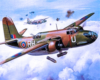 Paint By Numbers Adult Kit WW2 Douglas DB-7 Boston Bomber Havoc RAF War Airplane