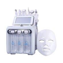 Chegada de novo! Dispositivo multifunction 7 dos cuidados com a pele em 1 anti envelhecimento pequena bolha h2o2 oxigênio jet máquina da beleza com máscara led