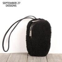 New Fashion Coin Purses Women Genuine Leather Handmade Key Wallets Top end 100% Sheepskin Zipper Mini Coin Pouch Small Money Bag