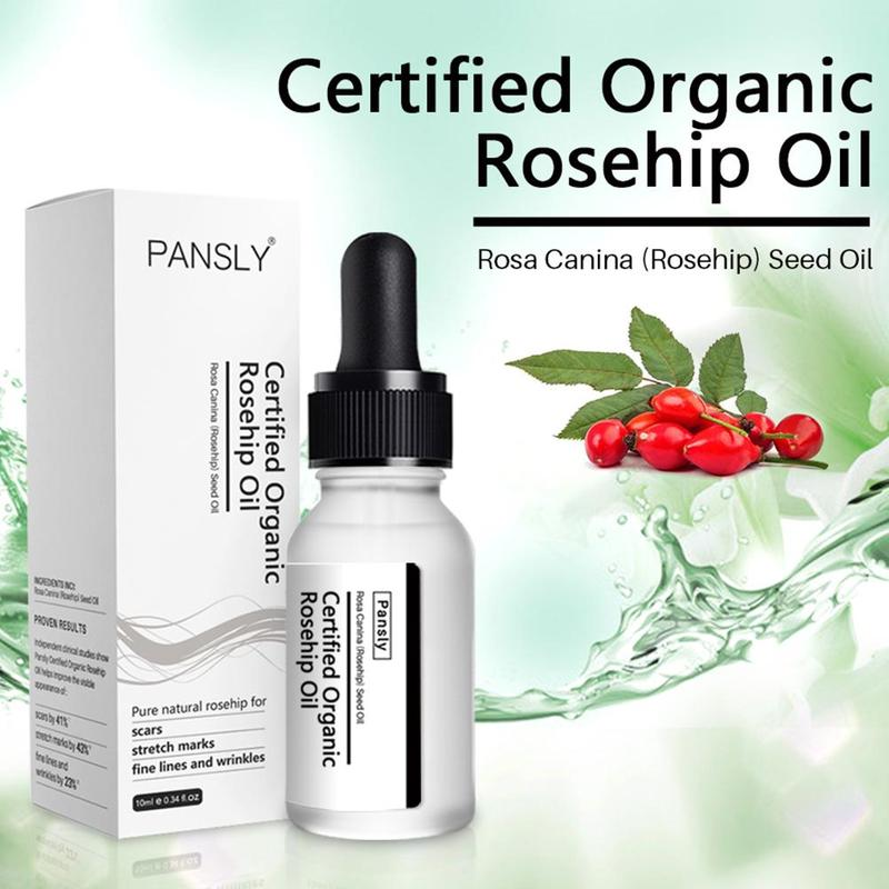 Rosehip Oil Whitening Moisturizer Rose Hip Essential Oil Skin Care Acne Scar Serum Stretch Marks Remover image