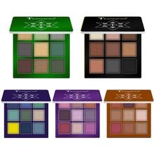 Glitter Diamond Eye Shadow Palette 9 Colors Shimmer Metallic Pigment Highlighter
