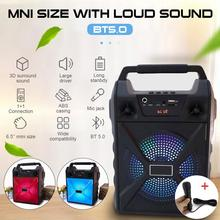 Portable Bluetooth Speaker Portable Wireless Loudspeaker Sound System 5W Stereo With Microphone FM Outdoor Party Speaker 1200mAh portable fm radio loudspeaker with microphone voice amplifier booster megaphone speaker for teaching tour guide sales promotion