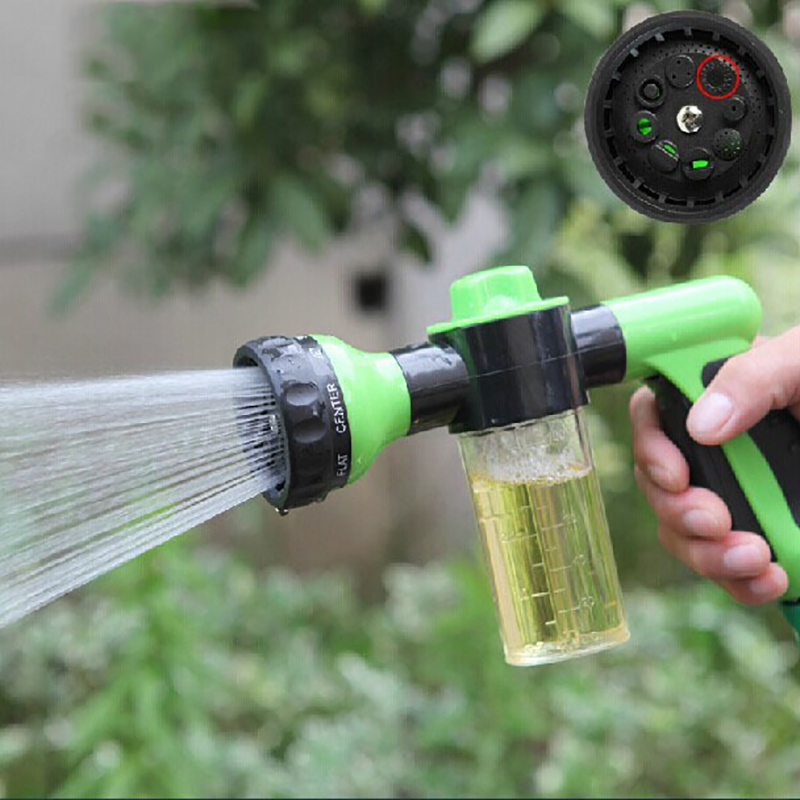 Plastic Adjustable Hose High Pressure Gun Sprinkler Nozzle Car Water Spray Gun Car Wash Hose Garden Water Gun Cleaning Tool