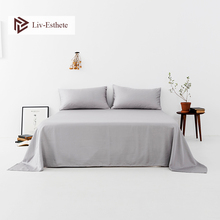 Liv-Esthete 2020 Noble Gray 100% Natural Silk Flat Sheet Silk Healthy Queen King Bed Sheet Pillowcase Home Textile Free Shipping