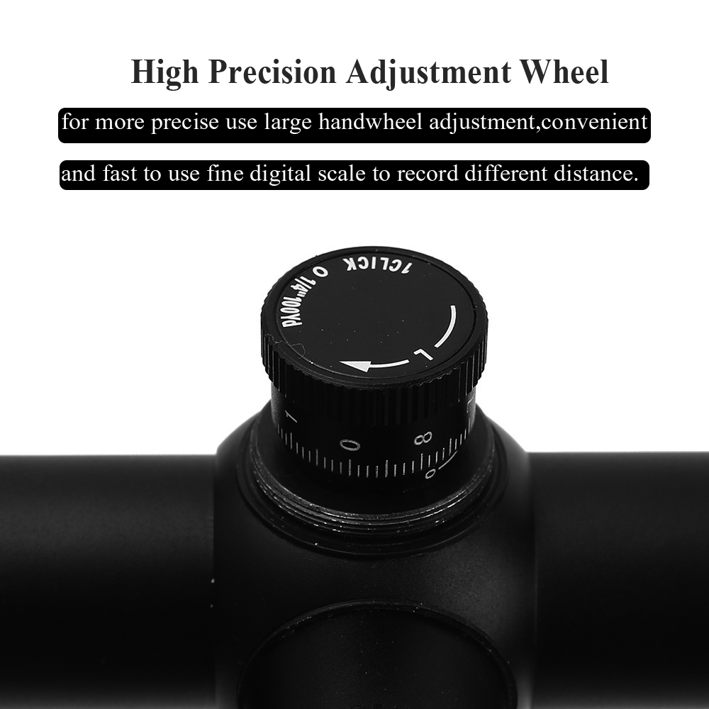 Iluminado Retícula de Mira Scope Riflescope Airsoft