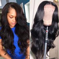 Lace Front Human Hair Wigs 13x4 Brazilian Body Wave Lace Front Wig Preplucked Lace Frontal Wig With Baby Hair For Black Women