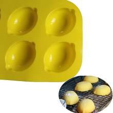 Molde de silicone de limão para bolo de pastelaria de cozimento bakeware fondant de chocolate forma redonda sobremesa molde diy decoração