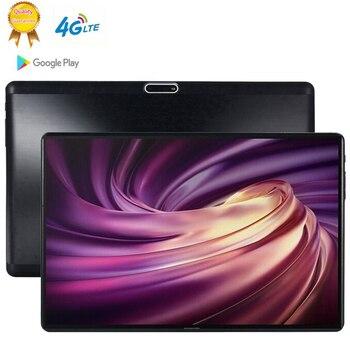 10.1 pouces 2.5D verre tablettes Android 9.0 MT6753 Octa Core Ram 6GB ROM 64GB 5MP 3G 4G LTE SIM tablette PC Wifi GPS bluetooth téléphone