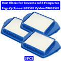 Аксессуары для пылесоса Комплект деталей Hepa пылезащитные фильтры для Rowenta ro53 Compacteo Ergo Cyclone-zr005501 Zyklon ZR005501
