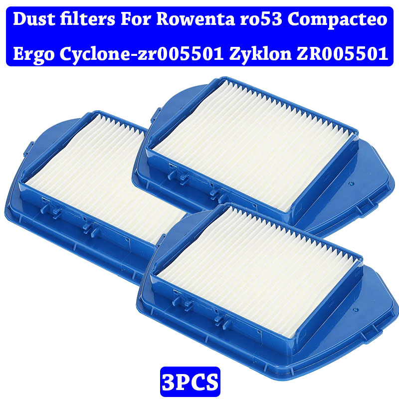 Vacuum Cleaner Accessories Kit Parts Hepa Dust Filters For Rowenta Ro53 Compacteo Ergo Cyclone-zr005501 Zyklon ZR005501