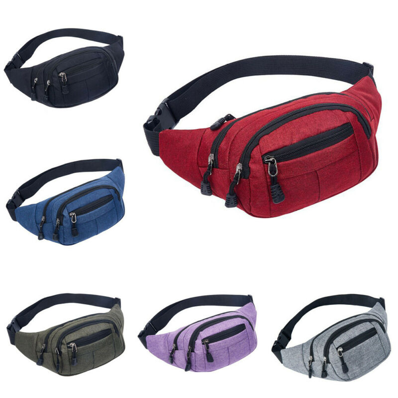 Men Women Waist Bum Bags Fanny Pack Belt Money Pouch Wallet Travel Hiking Bag