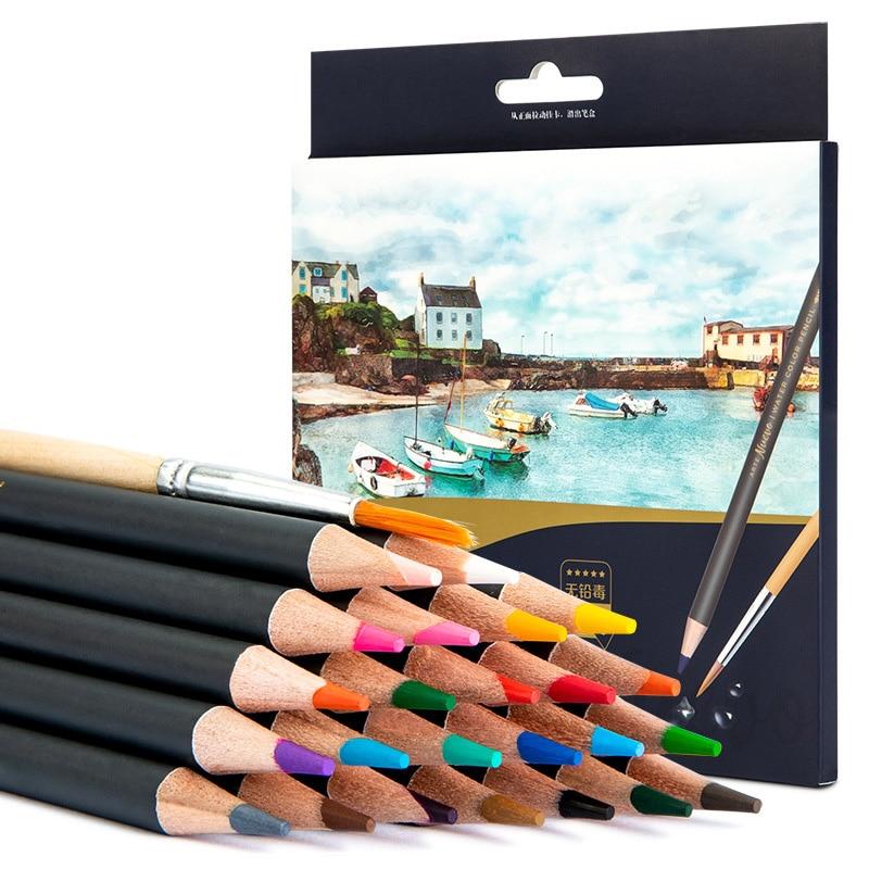 24/36/48 Colors Pencils Drawing Pen Art Set Children Kids Painting Sketching Water Color Pencils Kit
