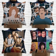 45cm*45cm TV Series Friends Pattern Pillow Car Sofa Cushion Pillowcase+Inner Cosplay Accessories Home Decor Christmas Gifts New(China)