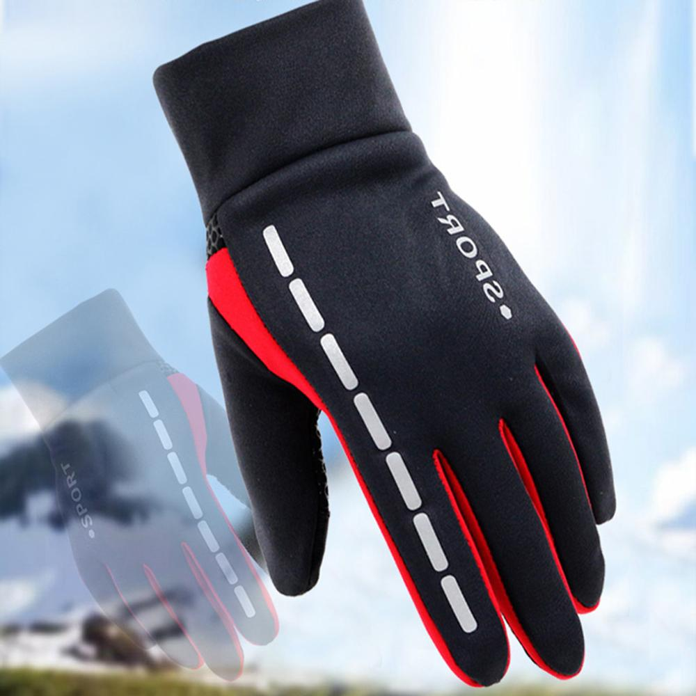 Mens Winter Therm With Anti-Slip Elastic Cuff Thermal Soft Gloves Man Waterproof Sports Gloves Driving Cycling Warm Gloves#50