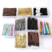 Épingles à cheveux en alliage coloré pour mariage, 100 pièces, barrettes, accessoires pour cheveux, fil latéral noir, dossier S