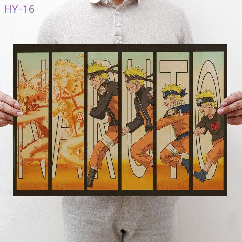 Постер Naruto Винтаж Классический Аниме Мультфильм крафт-бумага плакат живопись настенные наклейки домашние декоративные - Цвет: HY-16