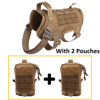 Tactical Dog Vest Military Hunting Shooting Cs Army Service Dog Vests Nylon Pet Vests Airsoft Training Molle Dog Vest Harness 8