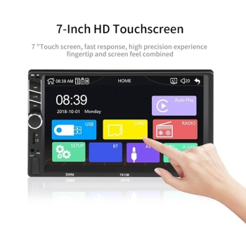 Car Stereo Receivers/Radio 2 Din,7 Inch Contact Screen Mp5 /Mp4/Mp3 Player,Bluetooth Audio,Fm Radio,Usb/Sd/Aux Input,Mirror Link