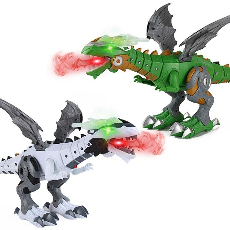 criancas brinquedo robo dinossauros animal de estimacao boneca modelo dragao spray andando balanco meninos meninas aniversarios