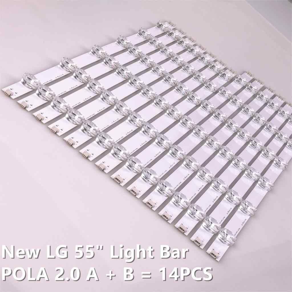 14 قطعة/المجموعة LED شريط إضاءة خلفي بار LZ55O1LCEPWA Ab ل LG 55 بوصة التلفزيون 55LN5400 55LN5200 INNOTEK POLA2.0 55 R L نوع