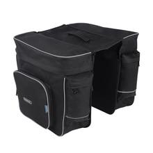 ROSWHEEL 30L bagaj çantası Pannier bisiklet bisiklet siyah arka bisiklet çantası bisiklet çift taraflı arka raf kuyruk koltuk Pannier açık çanta