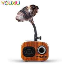 Retro Wood Portable Mini Bluetooth Speaker Wireless Loudspeaker Outdoor Speaker Sound System TF FM Radio Music Subwoofer аудио колонка bluetooth sruppor tf bluetooth speaker