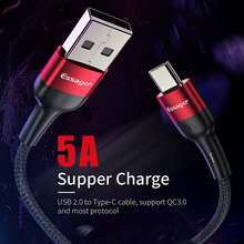 Essager 5A USB Type C Cable For Huawei Mate 20 P30 P20 Pro Lite Xiaomi Redmi Note 7 USBC Type-C Cord Fast Charging USB-C Charger voxlink usb type c 5a fast charging usb c cable type c data cord charger usb c for samsung s8 s9 note 9 8 xiaomi mi8 huawei p30