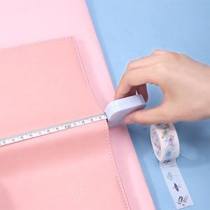 Image 3 - 사랑스러운 캔디 컬러 눈금자 귀여운 마카롱 테이프 측정 상자 휴대용 패션 디자인 학교 사무실 통치자 편지지 용품