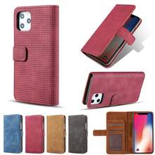 KISSCASE Net Hole Flip Leather Wallet Case For Samsung S8 S9 S10 Plus S10E Note 8 9 10 Plus A6 A7 A8 A750 Card Slots Phone Bag(China)