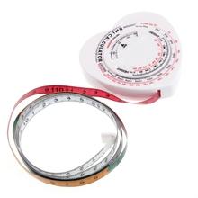 Serce BMI masy ciała wskaźnik taśma miernicza kalkulator mięśni ciała diety utrata masy ciała U1JB tanie tanio AIMOMETER Maszyny do obróbki drewna 1 5 M Z tworzywa sztucznego U1JB1A60091