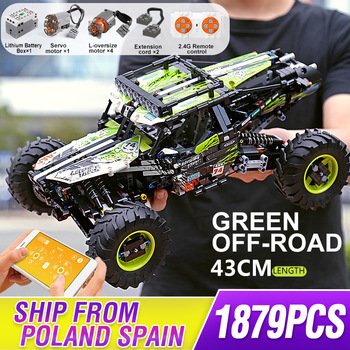 Mould King Moc Technic Buggy Remote Control All Terrain Off-Road Climbing Truck Car Building Blocks Bricks Kids DIY Toy Gifts