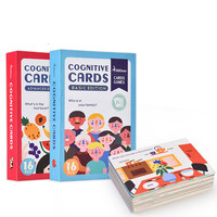 Children's Enlightenment Early Education Cognitive Card English Word Color and Shape Learning Card Toy