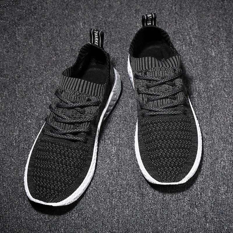 LOOZYKIT Erkekler rahat ayakkabılar Lac-up erkek ayakkabısı Hafif Çorap Ayakkabı Rahat Nefes Yürüyüş Spor Ayakkabı Tenis Feminino Zapatos