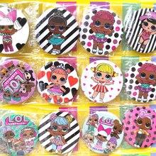 Из серии «LOL surprise» Куклы lol значок на день рождения, вечерние аксессуары для детей с изображениями персонажей аниме, фигурами, с рисунком в ви...
