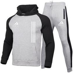 Autumn Winter New Men's Suit Sportswear 2-Piece Hoodie+Trousers Jogging Fitness Sportswear Hedging Track Suit Sweate