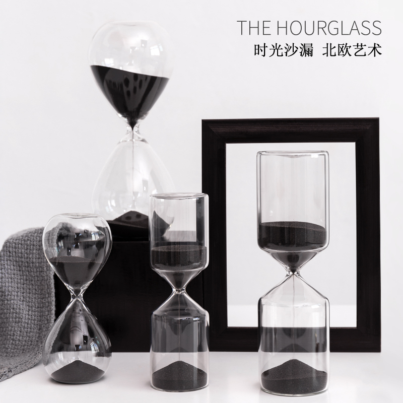 >Hourglass Timer 60/30/15/10/5 minutes Creative Home Decoration <font><b>Living</b></font> Room <font><b>Office</b></font> <font><b>Study</b></font> Room Cafe Restaurant Desktop Display Set
