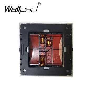 1 Gang 2 Way Switches Wallpad Luxury On Off Wall Light Switch Satin Metal Panel Rocker Switches Interrupteur
