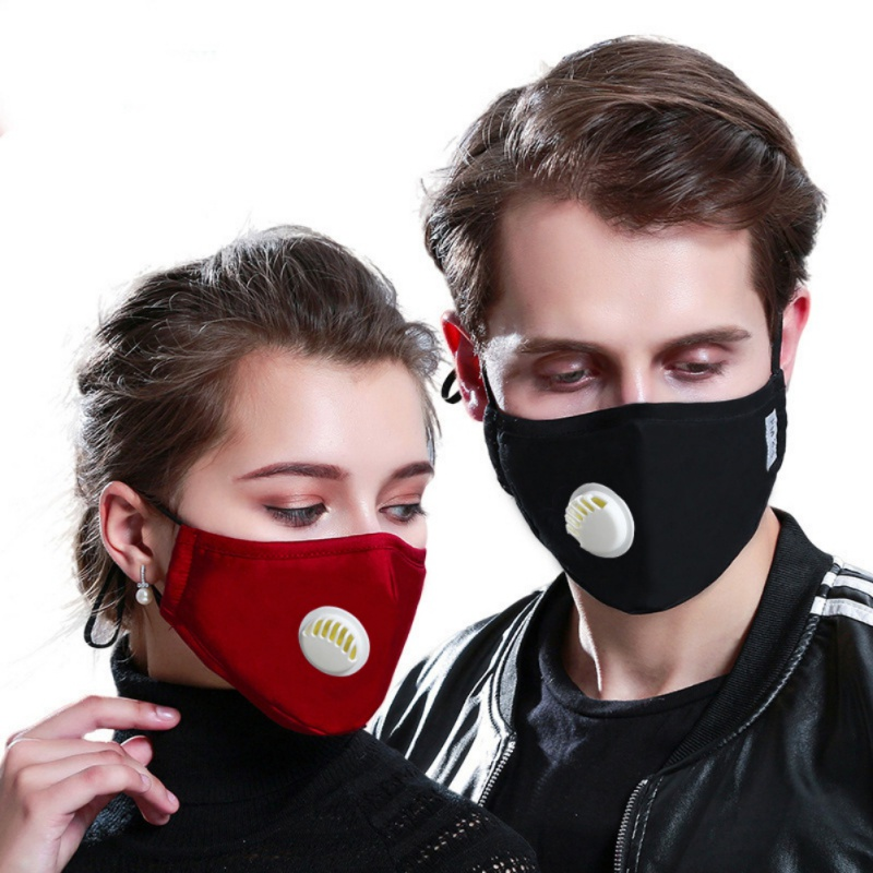 Dust Mask With 2 Filters Breathe Reusable Face Mask Anti For Outdoor Sports Travel Resist Dust Germs Allergies PM2.5 Pollution