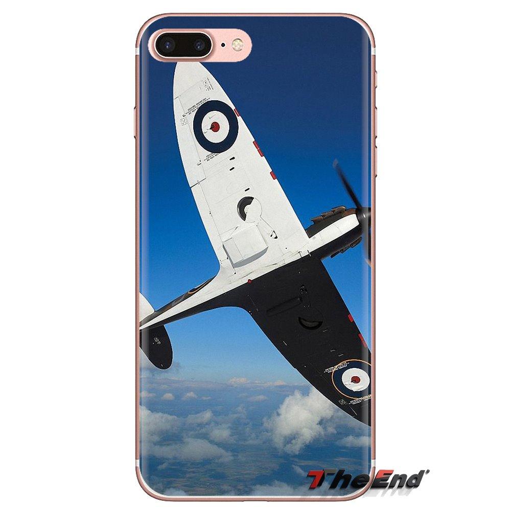 Supermarine Spitfire avion jamais Silicone coque de téléphone pour iPod Touch Apple iPhone 4 4S 5 5S SE 5C 6 6S 7 8 X XR XS Plus MAX
