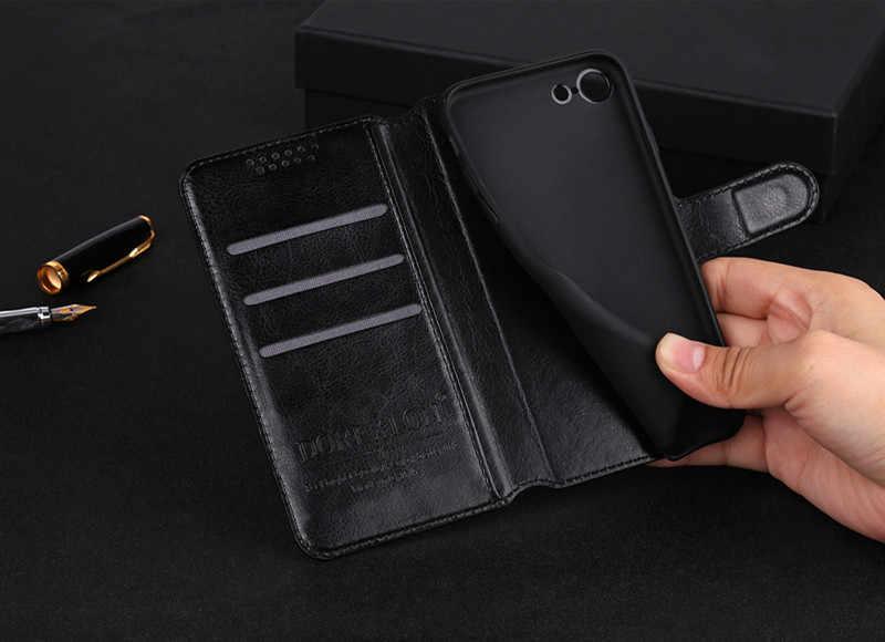 Fundas con Tapa de cuero magnético para Samsung S10 Plus S10E A50 A70 ranura para tarjeta funda cartera para Galaxy J4 S8 S9 Note9 contraportada