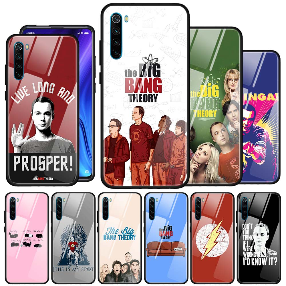 The <font><b>Big</b></font> <font><b>Bang</b></font> Theory Pattern Tempered Glass <font><b>Phone</b></font> <font><b>Case</b></font> For Xiaomi Redmi 7 8A K20 K30 Note 9S 6 7 8 8T Note 9 Pro Max Cover Couqe image
